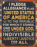 Pledge of Allegiance Tin Sign