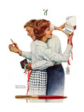 Exchanging gifts (or Fair Exchange) Giclee Print by Norman Rockwell