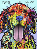 Dog Is Love Giclee-trykk av Dean Russo