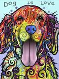 Dog Is Love Stampa giclée di Dean Russo