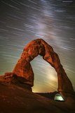 Delicate Arch Star Trails Photographic Print by  Darren White Photography