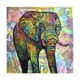 Elephant Torn Giclée-trykk av Dean Russo