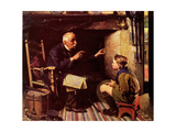 Youth and Old Age Giclee Print by Norman Rockwell
