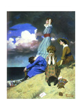 Till the Boys Come Home Giclee Print by Norman Rockwell