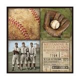 Baseball 4 Patch Lámina giclée por Stephanie Marrott
