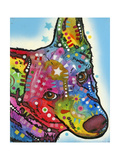 Aussie Sheep Dog Giclee Print by Dean Russo
