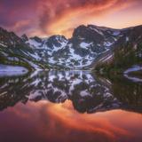 Indian Peaks Reflection Reproduction photographique par  Darren White Photography