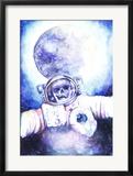 Deceased Astronauts in Space Print by  viktoria