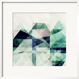 Teal Mountains III Art by Amy Lighthall