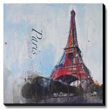 Love Paris Stretched Canvas Print by Haub Markus