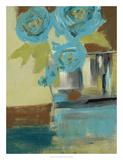 Blue Bud Vase II Premium Giclee Print by Jennifer Goldberger