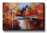 Reflections of Fall Stretched Canvas Print by Heighton Brent