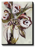 Velvet Rose Stretched Canvas Print by Maritz Angela