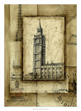 Passport to Big Ben Premium Giclee Print by Ethan Harper