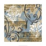 Notes and Scrolls I Premium Giclee Print by Jennifer Goldberger