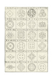 Line Art Thumbnails of Round Window Shape Compositions Print