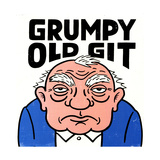 Old Man with Grumpy Old Git Lettering Prints