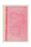 Stylized Pink Pinwheel Circles Prints