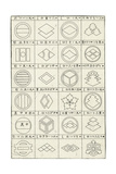 Thumbnails of Polygon and Circle Border Compositions Poster