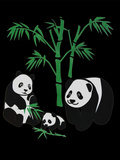 Panda Bear Family With Bamboo Prints by  Wonderful Dream
