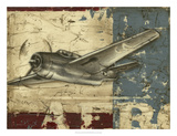 Vintage Aircraft II Premium Giclee Print by Ethan Harper