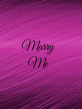 Purple Marry Me Wedding Prints by  Wonderful Dream