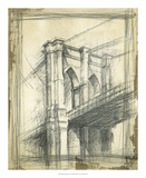 Brooklyn Bridge Premium Giclee Print by Ethan Harper