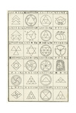 Line Art Thumbnails of Triangle Compositions Prints