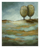 Walking in the Rain Premium Giclee Print by Christina Long