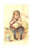 Little Girl Loving Her Baby Doll Prints