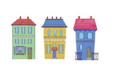 Three Colorful Houses Prints