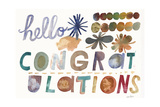 Hello and Congratulations Lettering Posters