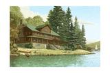 Serene Waterside Cabin Landscape Prints