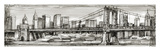 Pen and Ink Cityscape I Premium Giclee Print by Ethan Harper