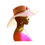Profile of African-American Woman in Large Brimmed Hat Prints