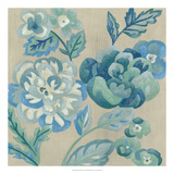 Turquoise Chintz I Premium Giclee Print by Chariklia Zarris