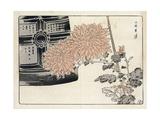Stylized Chrysanthemums Wtih Decorative Box Premium Giclee Print