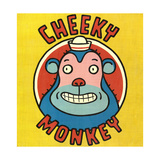 Monkey Wearing Hat with Cheeky Monkey Lettering Print