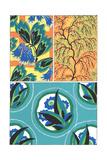 Stylized Leaf Patterns Poster