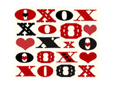 Xo and Hearts Lettering Posters