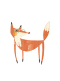 Whimsical-Style Fox Wearing Glasses Premium Giclee Print