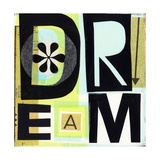 Dream Lettering on Collage Art