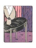 Stylized Vanity Table Illustration Print