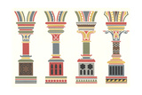 Stylized, Graphic Pillar Designs Prints