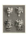 Stylized Gargoyle Designs Print
