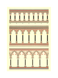 Stylized Archways and Pillars Borders Premium Giclee Print