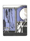 Stylized Flapper Dressing Room Illustration Prints
