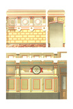 Multiple Designs for Paneled Walls and Wainscoting Print