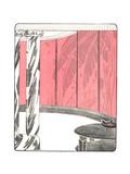 Stylized Flapper Salon Illustration Poster