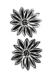 Daisy with Black and White Stamped Look Art